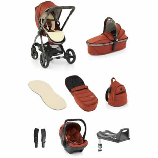 egg® 2 Luxury 3in1 Shell Travel System with ISOFIX Base-Paprika (NEW)