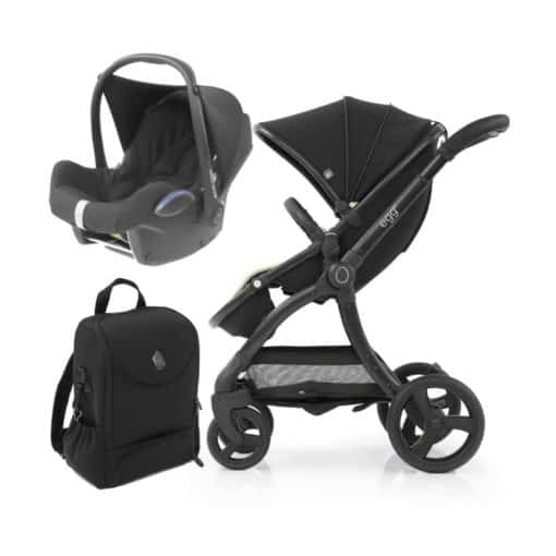 egg® 2 Special Edition 2in1 Cabriofix Travel System With Changing Bag-Just Black (NEW)