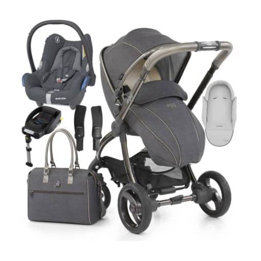 egg® Special Edition Stroller With New Born Insert, Changing Bag & Seat Liner-Pewter Grey