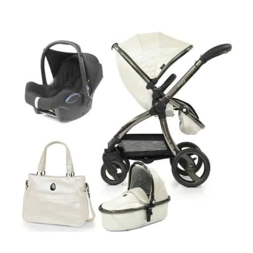 egg Special Edition® 2in1 Cabriofix Travel System with FREE Carrycot, Changing Bag-Pearl