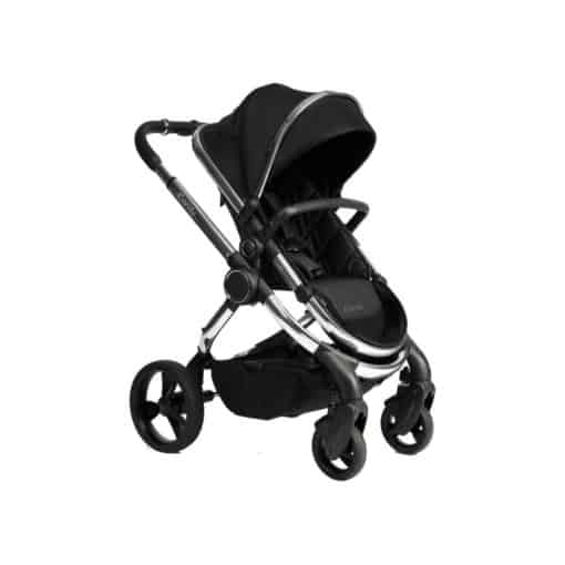 iCandy Peach Chrome Stroller + Maxi Cosi Cabriofix 0+ Car Seat-Black Twill (New 2020)