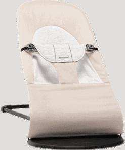 BABYBJÖRN Bouncer Balance Soft - Beige/Grey, Cotton/Jersey