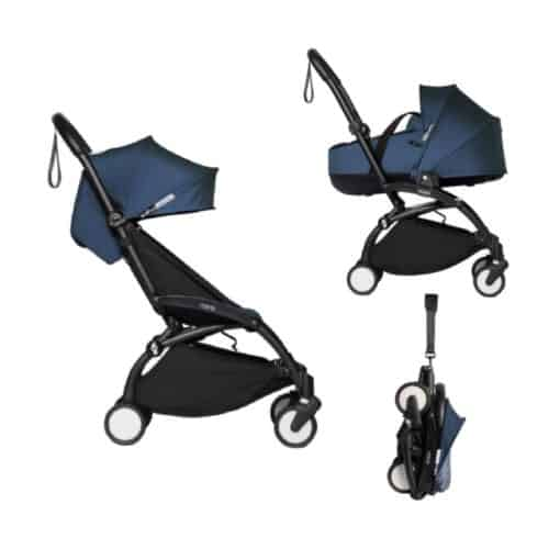 BABYZEN YOYO² Black Frame with Bassinet Complete - Air France