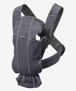 Baby Carrier Mini in 3D Mesh, by BABYBJORN grey medium solid