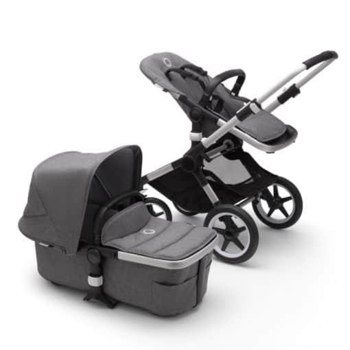 Bugaboo Fox2 Complete Pushchair-Aluminium/Grey Melange