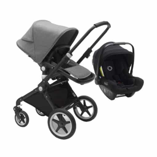 Bugaboo Lynx With Turtle Air Travel System-Black/Grey Melange (New 2021)