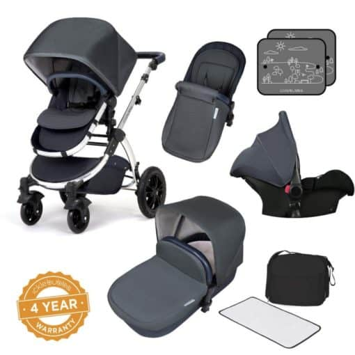 Ickle Bubba Stomp V4 Special Edition All-In-One Travel System-Blueberry Chrome