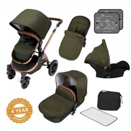 Ickle Bubba Stomp V4 Special Edition All-In-One Travel System-Woodland Bronze