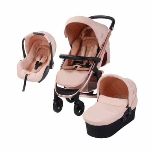 My Babiie Billie Faiers MB200+ Travel System-Rose Gold and Blush (MB200ROSEBLPLUS)
