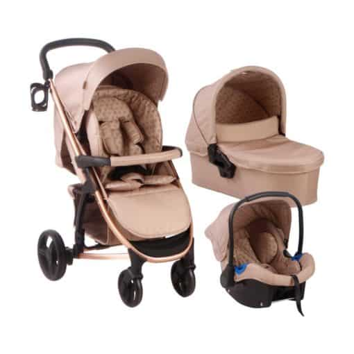 My Babiie MB200+ Dreamiie Travel System-Mocha Monogram MB200SFMOPLUS