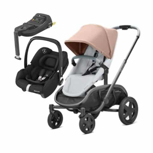 Quinny Hubb Graphite 2in1 Tinca Travel System With Tinca Base-Cork/Grey
