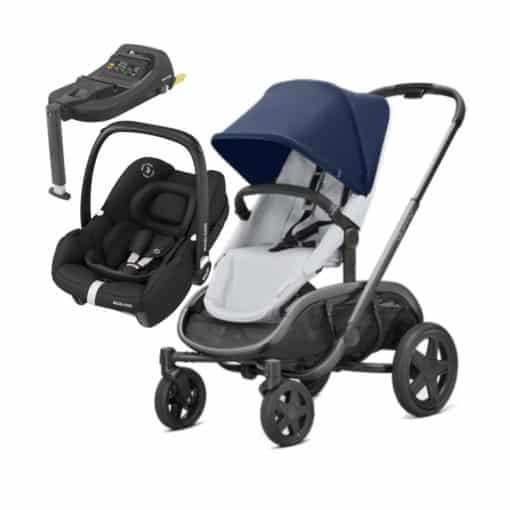 Quinny Hubb Graphite 2in1 Tinca Travel System With Tinca Base-Navy/Grey