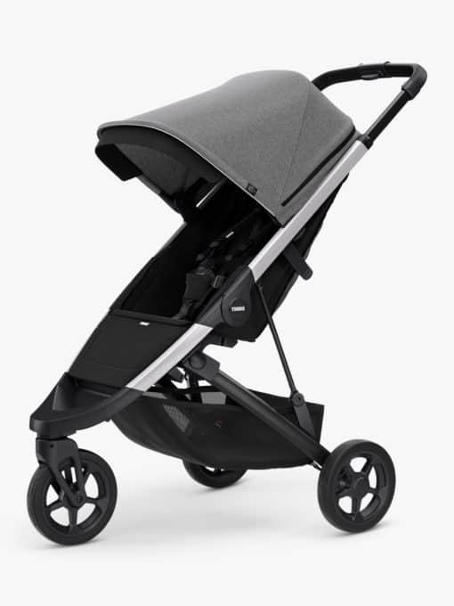 Thule Spring + Canopy Stroller, Aluminium/Grey Melange