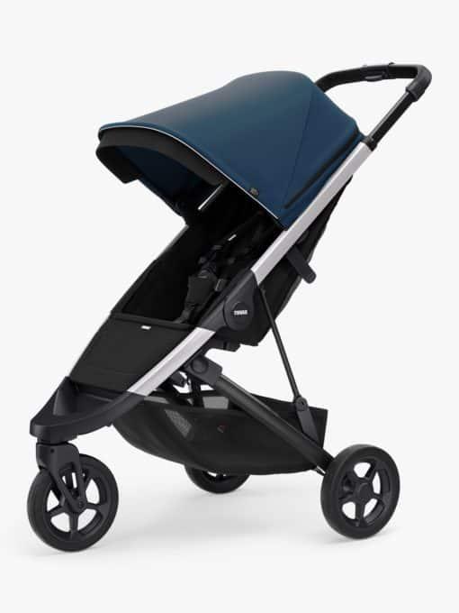 Thule Spring + Canopy Stroller, Aluminium/Majolica Blue