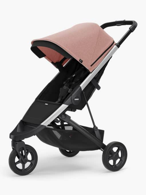 Thule Spring + Canopy Stroller, Aluminium/Misty Rose