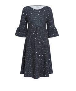 Womens **Dp Maternity Black Spot Print Dress - Multi Colour, Multi Colour
