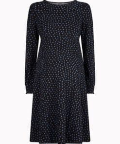 Womens **Dp Maternity Black Spot Print Dress, Black