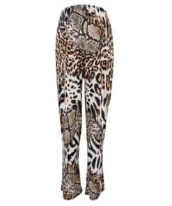Womens **Dp Maternity Neutral Animal Print Palazzo Trousers - Brown, Brown