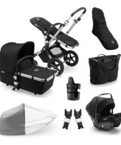 Bugaboo Cameleon 3 Plus Ready to Go Bundle - Aluminum + Black