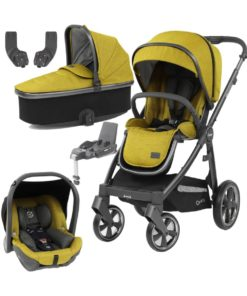 BabyStyle Oyster 3 City Grey Finish Essential Capsule Travel System-Mustard