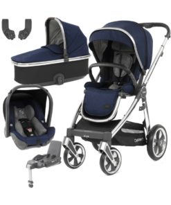 BabyStyle Oyster 3 Mirror Finish Essential Capsule Travel System-Rich Navy