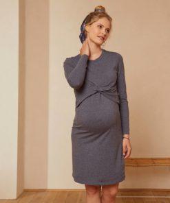 2-in-1 Effect Dress, Maternity & Nursing Special grey