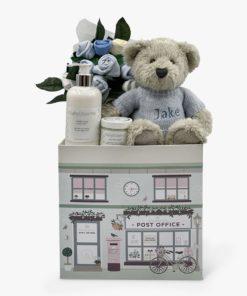 Babyblooms Personalised Berkeley Bear Welcome Baby Hamper, Blue