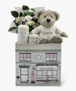 Babyblooms Personalised Berkeley Bear Welcome Baby Hamper, Neutral