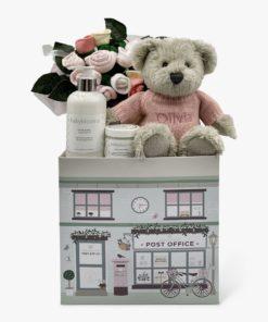 Babyblooms Personalised Berkeley Bear Welcome Baby Hamper, Pink