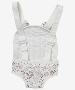 Baby Carrier for Baby Dolls in Cotton Gauze, Flora multi