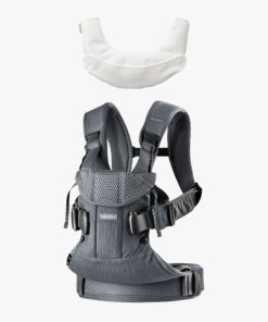 BabyBjörn Anthracite One Air Baby Carrier 2018 and Teething Bib bundle