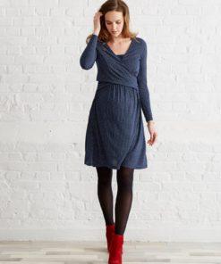 Adaptable Maternity & Nursing Wrapover Dress black