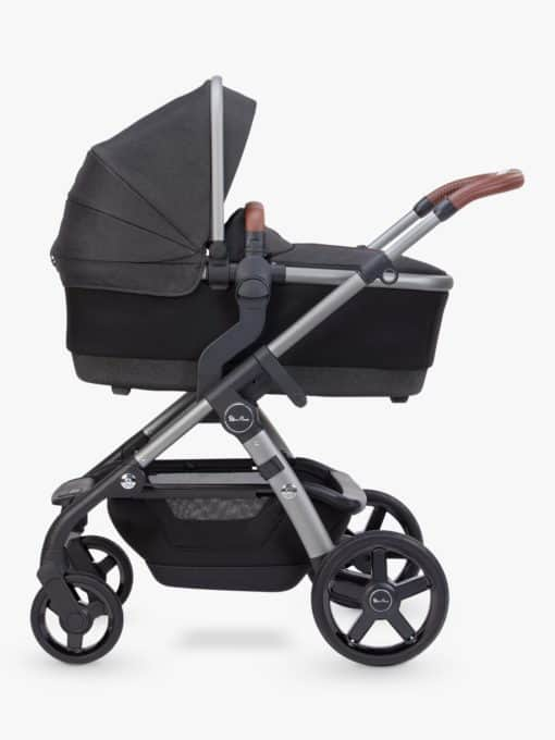 Silver Cross Wave Pushchair & Carrycot, Charcoal